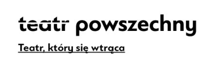 Logo: Teatr Powszechny