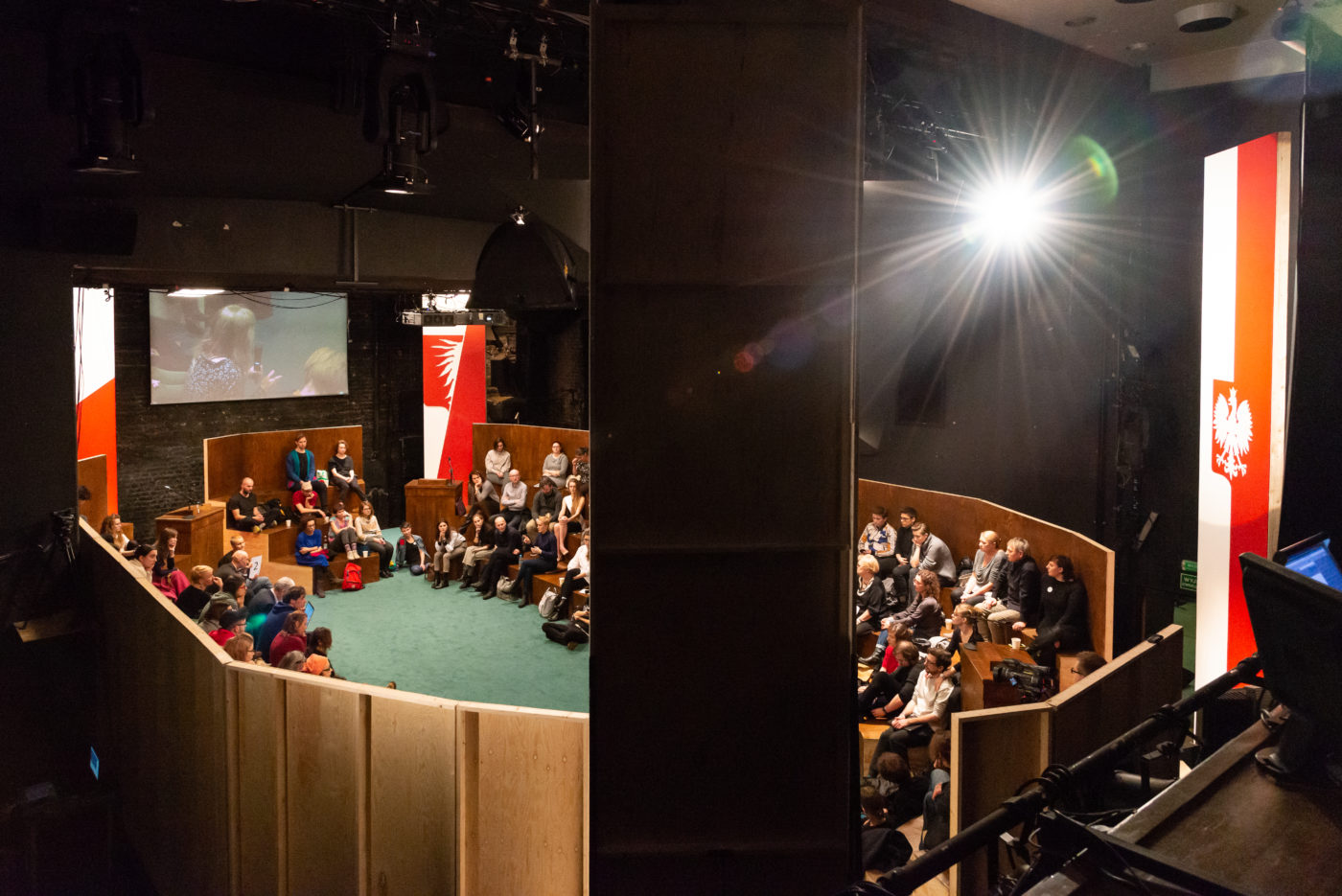 Unionizing the Polish Parliament (2018), Jonas Staal,  Powszechny Theater/Forum for the Future of Culture, Warsaw, photo: Jonas Staal