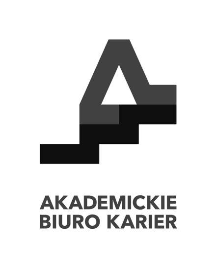 Logo: Akademickie Biuro Karier <br> Akademia Sztuk Pięknych wWarszawie