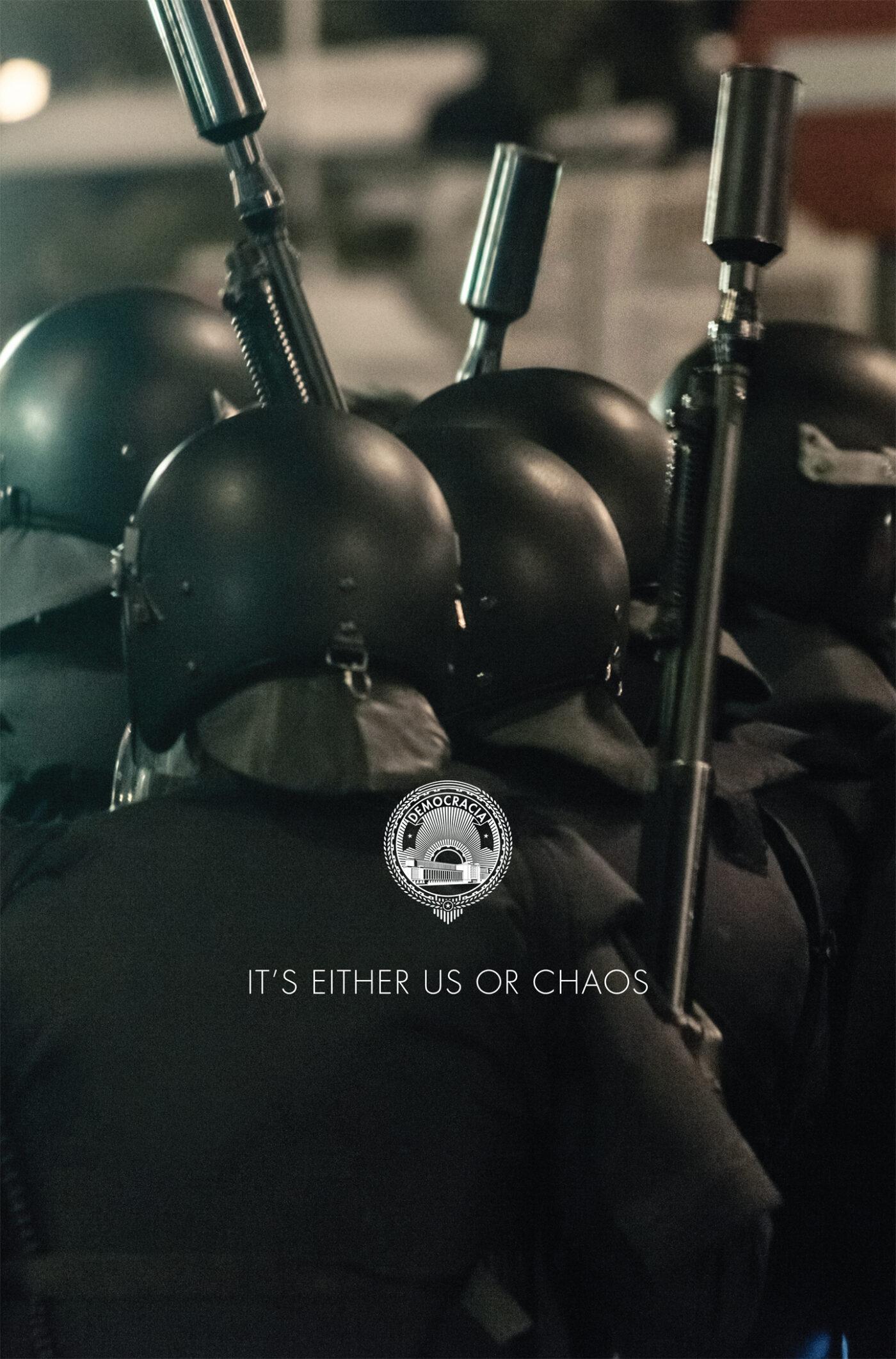 """Democracia, """"Chronimy was przed wami samymi"""", 2013, dzięki uprzejmości artystów i a/political"""